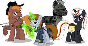 Fallout Equestria characters by Vector-Brony