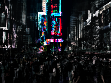 Night At Times Square by PapaGolf54