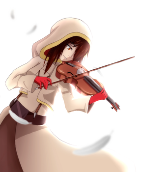 Sad violine by AlishDark