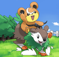 Skiddo and teddiursa