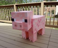 Paper Minecraft Pig by Koreena
