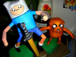 Adventure Time Papercraft by hklovesboba