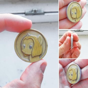 A new craft - coin with OC pony my girl by King-Franchesco