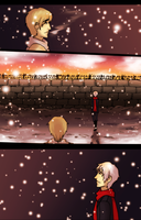 APH: The wall :Practise Comic: by fliff