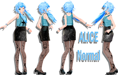 [MMDxOc] Alice [Outfit Normal] by BekaChan11