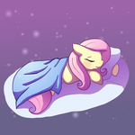 Sleeping Fluttershy by Butterscotch25