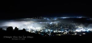 Midnight Over San Luis Obispo by novelhill