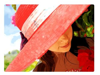 Girl with the Red Hat by ndie