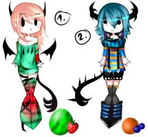 2 Fruit-Demon-Adopts [closed] by Mellmeow