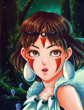 Princess Mononoke by artbykurisu