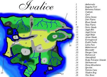 Map of Ivalice by UberFuzz