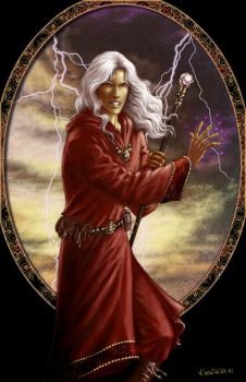 Raistlin in red by whiteshaix