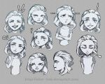 expressions sketches by Alice--Icek