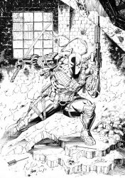 DeathStroke Inks by SaviorsSon