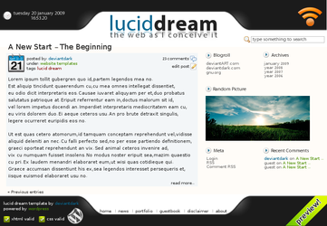 Lucid Dream Template by deviantdark