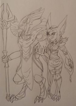Azir X Kiira by Tiera-The-Yordle