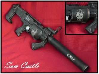 HALO ODST SMG right side by Sam-Castle