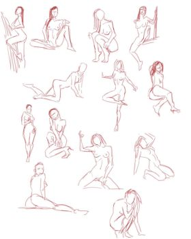 Quickposes figures 14 by SuikTwoPointOh