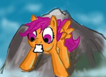 NATG:Day05 Scoots on mountain by RunbowDash