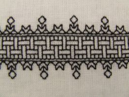 Lace Effect Blackwork by VickitoriaEmbroidery