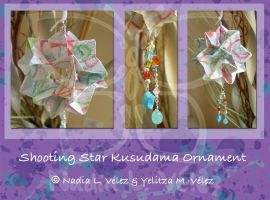 Shooting Star Kusudama by fieryfae
