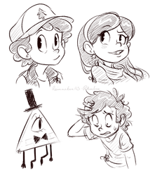 gravity falls sketches by Rainmaker113