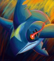 Speedpaint- Sharpedo by pettyartist
