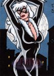 Black Cat Sketch Card by ElainePerna
