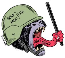 Coup leaders offer dialogue by Latuff2