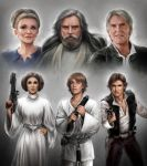 Star Wars: Past and Present by daekazu