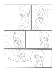 Art Trade Comic Pg. 2 for BigClaudia (B an' W) by sonichannah