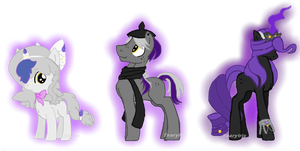 Litwik, Lampent, Chandelure Pony Adopts (CLOSED) by TearyIris