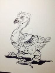 Hairless Joe Chick Illustration by lamelobo