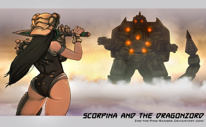 Scorpina and Dragonzord by Chronorin
