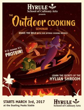 Hyrule Cooking Seminar by jmardesigns