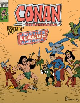 Conan VS The Justice League by Guyster