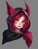 Xayah by azuffs