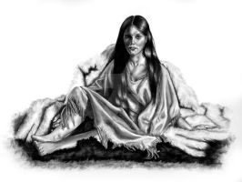 Indian Drawing - 3 by KJS-1