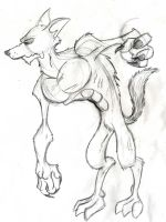 A Werewolf by OuthouseCartoons