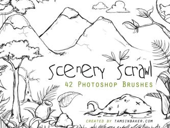 Scenery Scrawl PS Brushes by InvisibleSnow