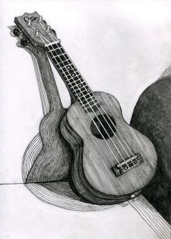 Ink Ukulele by Pilly-Pat
