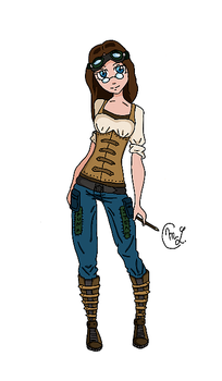 Steampunk ID Colored by PotterLauren