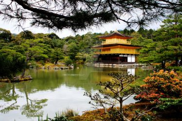 Kinkaku-ji or Golden Pavilion, Kyoto April 2012 by Fairytwister