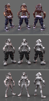 Chad - 3D model by Lupus-Lup (steps) by Florian-K