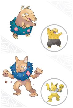 Alolan Drowzee and Hypno by miikanism
