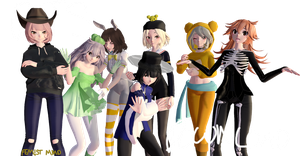 MMD \\ FEM!BTS  Halloween Special - DOWNLOAD by FemaleST
