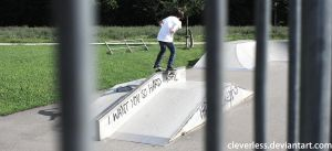 Second Boardslide by cleverless
