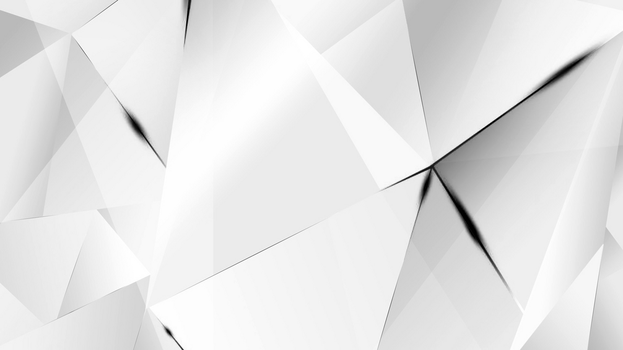 Wallpapers - Black Abstract Polygons (White BG) by kaminohunter