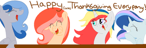 Happy Thanksgiving Everypony! by chocoqueen112