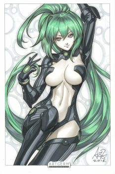 Green Heart by Artgerm